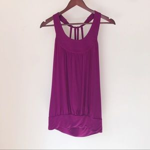 Twentyone halter tank in magenta, strappy back szS